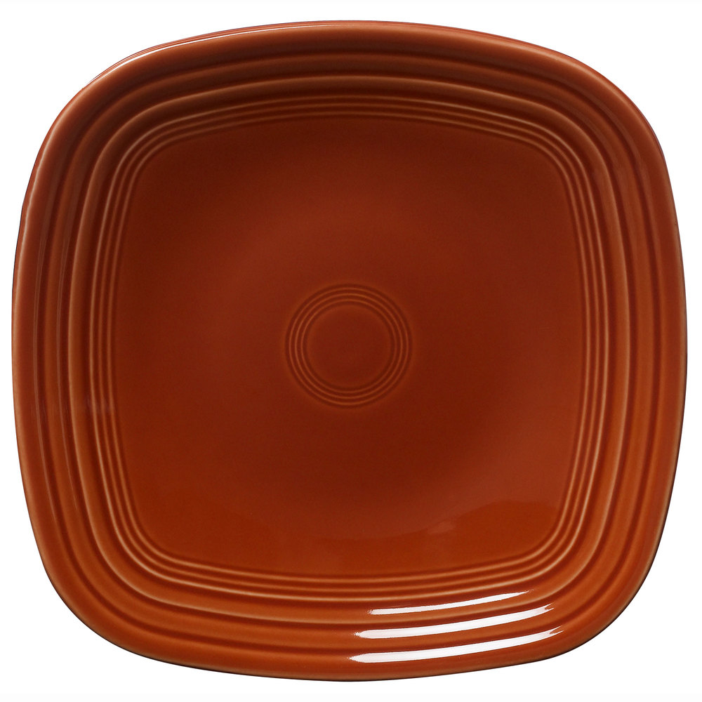 "Homer Laughlin 920334 Fiesta Paprika 9 1/4"" Square Luncheon Plate - 12 / Case"
