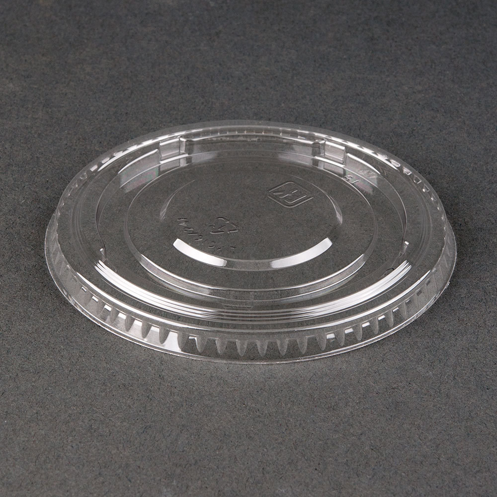 Clear Flat Pet Lid For 5 Oz 8 Oz And 12 Oz Sundae
