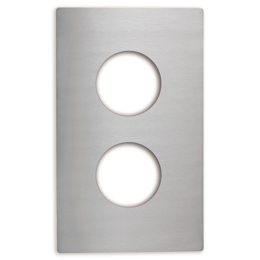 Vollrath 8242214 Miramar Stainless Steel Adapter Plate for Two Butter Melter Pans