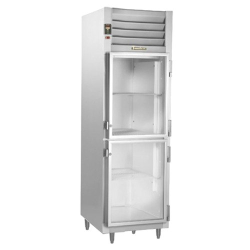 Traulsen RHT132DUT-HHG Stainless Steel 17.7 Cu. Ft. One Section Glass Half Door Narrow Reach In Refrigerator - Specification Line