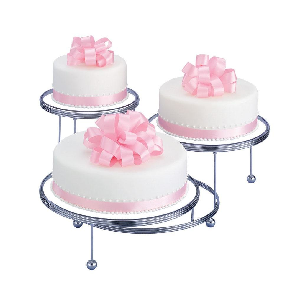 three tier cake wilton 307 859 cakes n more three tiered display stand 7981