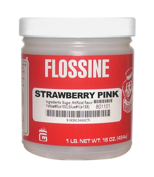 Gold Medal 3454 Strawberry Pink Flossine 12 - 1 lb. Jars / Case