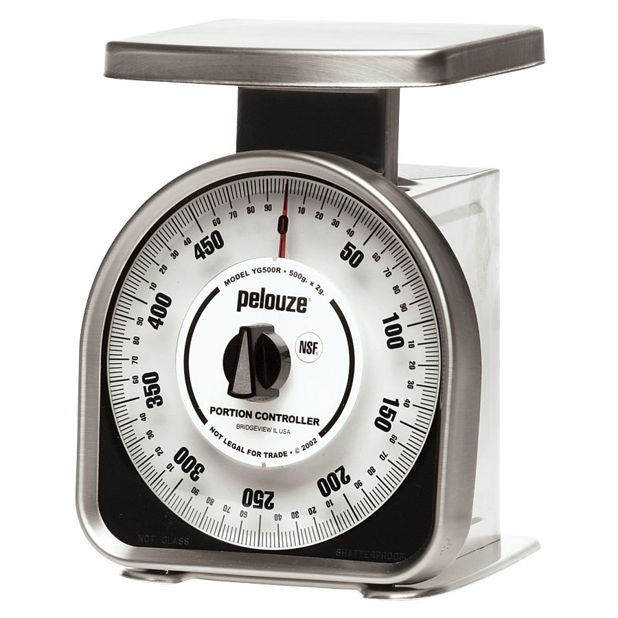 Rubbermaid Pelouze YG500R 500 Gram Mechanical Portion Control Scale - Metric (FGYG500R)