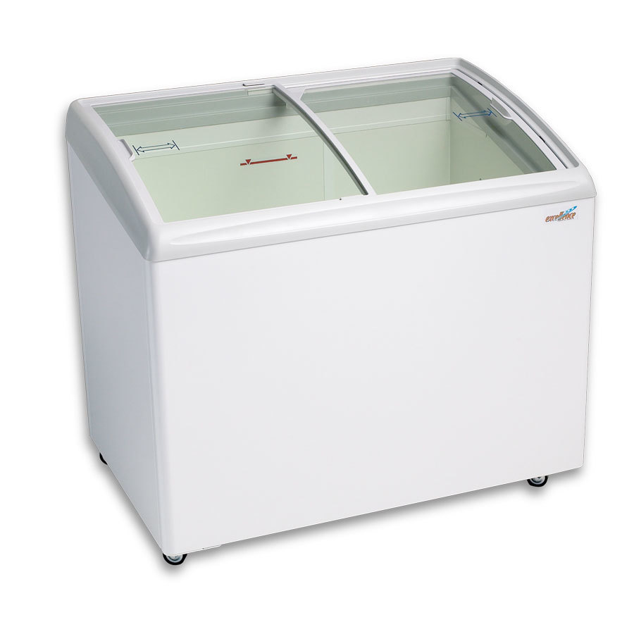 Excellence RIO-S-100 Curved Lid Display Freezer - 8.4 Cu. Ft.