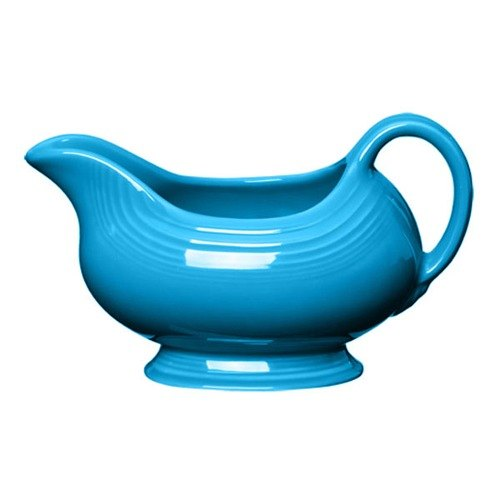 Homer Laughlin 486327 Fiesta Peacock 18.5 oz. Sauce Boat - 4 / Case
