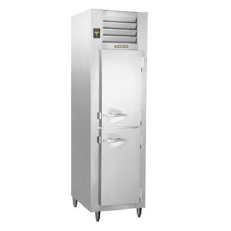 Traulsen RLT132NUT-HHS Stainless Steel 21.9 Cu. Ft. One-Section Solid Half Door Narrow Reach-In Freezer - Specification Line