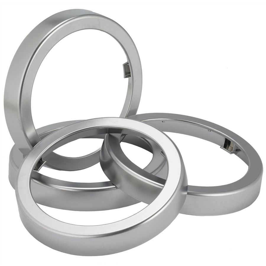 San Jamar C22XC EZ-Fit Metal Finish Rings - 2/Pack