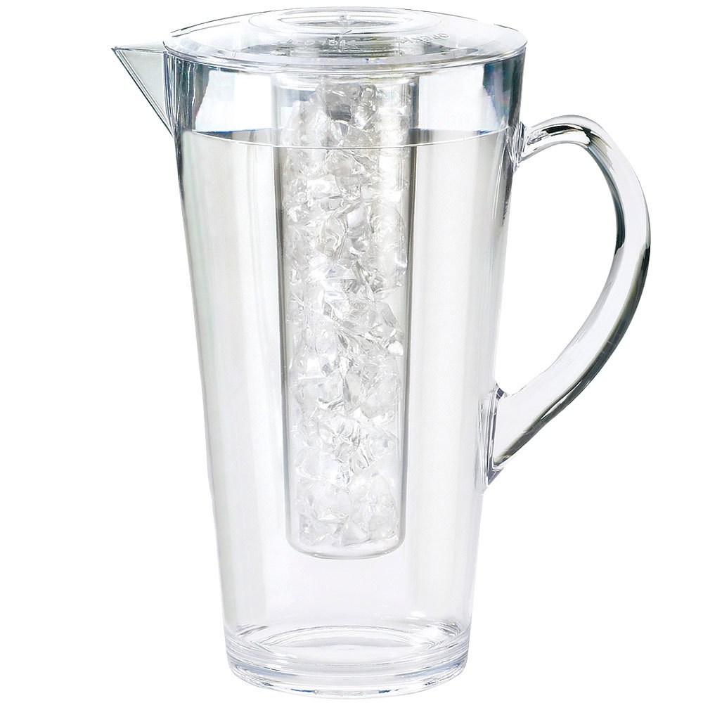 Cal Mil 682 Ice 2 Liter Polycarbonate Pitcher With Ice Chamber