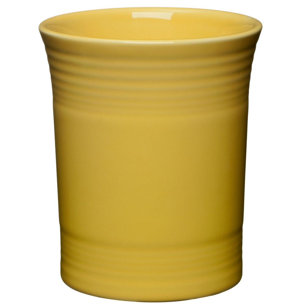 "Homer Laughlin 447320 Fiesta Sunflower 6 5/8"" Utensil Crock - 4/Case"