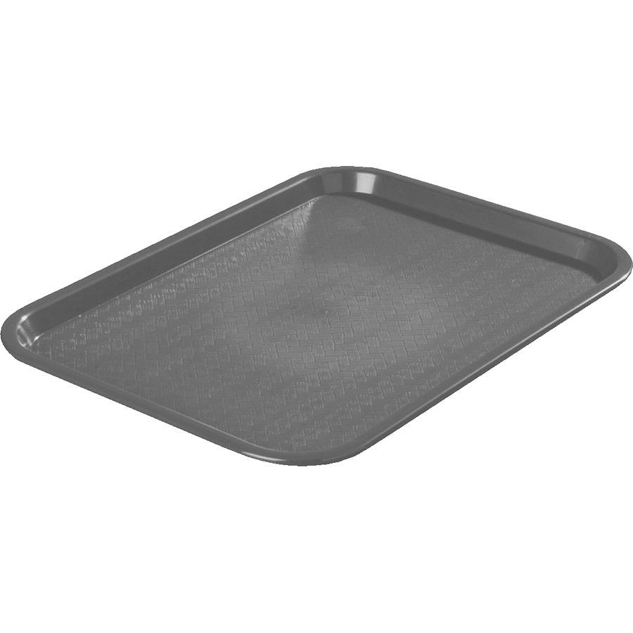 "Carlisle CT121623 Customizable Cafe 12"" x 16"" Gray Standard Plastic Fast Food Tray - 24/Case"