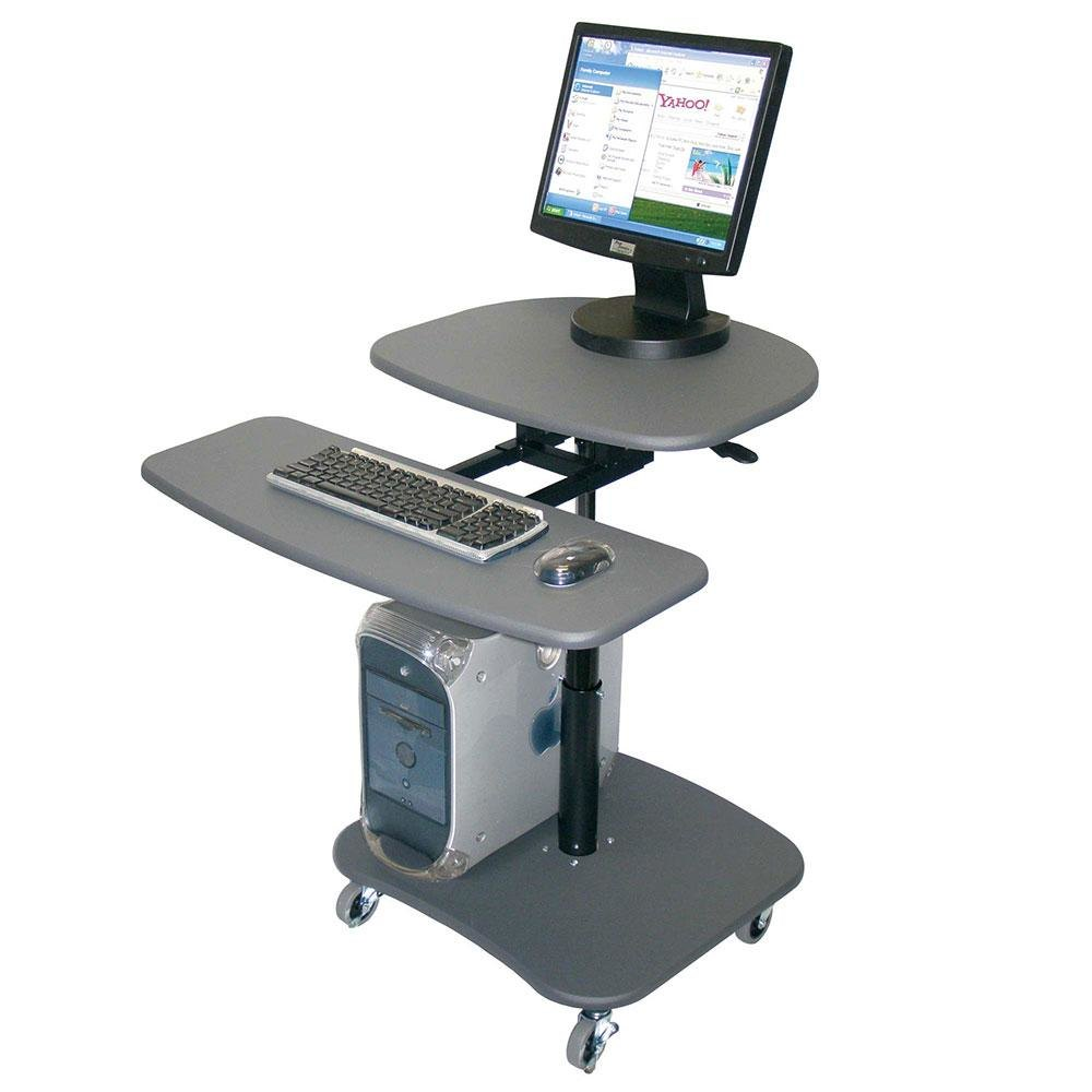 Luxor H Wilson Lamc3037 Mobile Computer Cart With