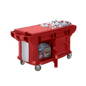 Cambro VBRUT6158 Hot Red 6? Versa Ultra Work Table with Storage and Standard Casters at Sears.com