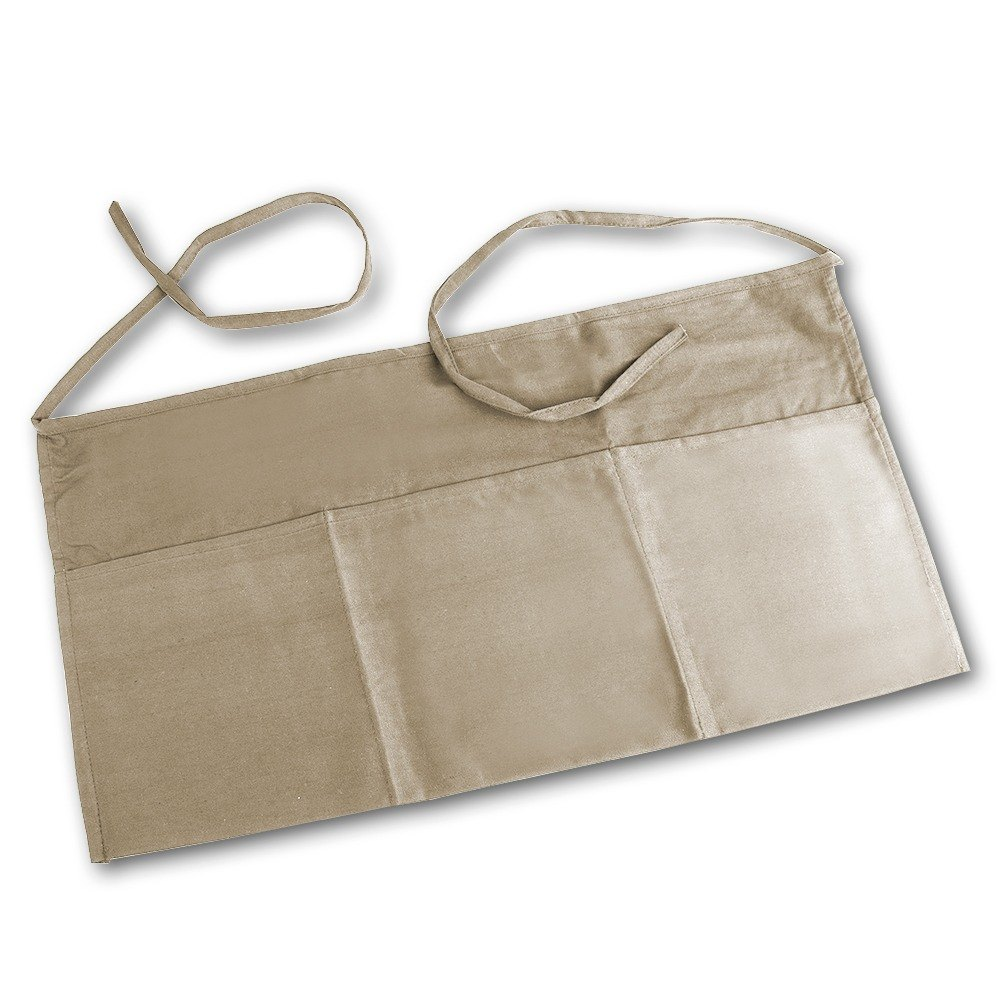 Khaki Choice Front of the House Waist Apron - 12 inchL x 24 inchW