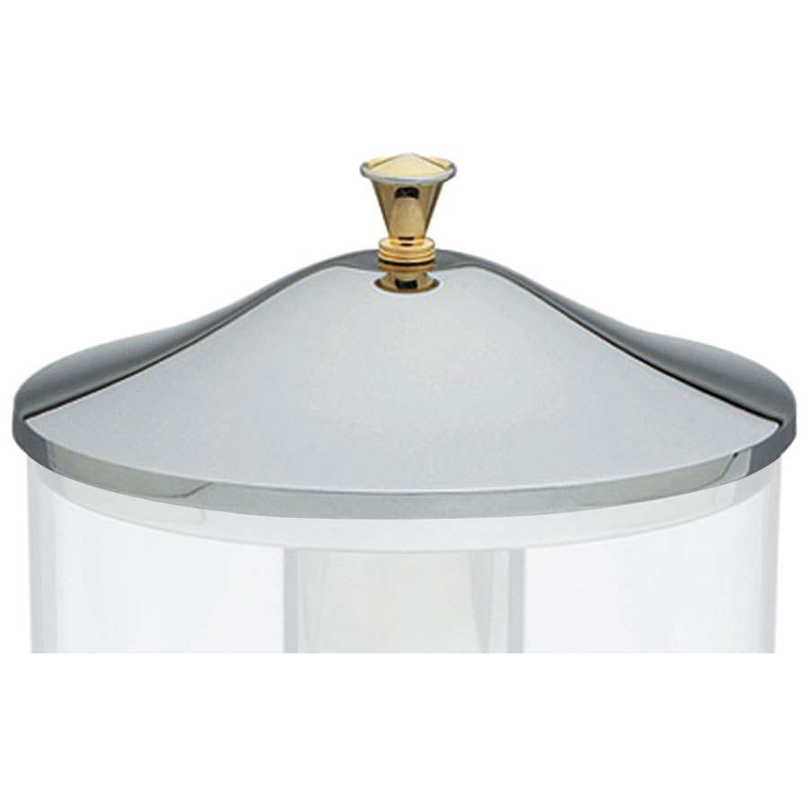 Vollrath 46272 Replacement Stainless Steel Cover with Brass Handle for New York, New York 2 Gallon Cold Beverage Dispenser