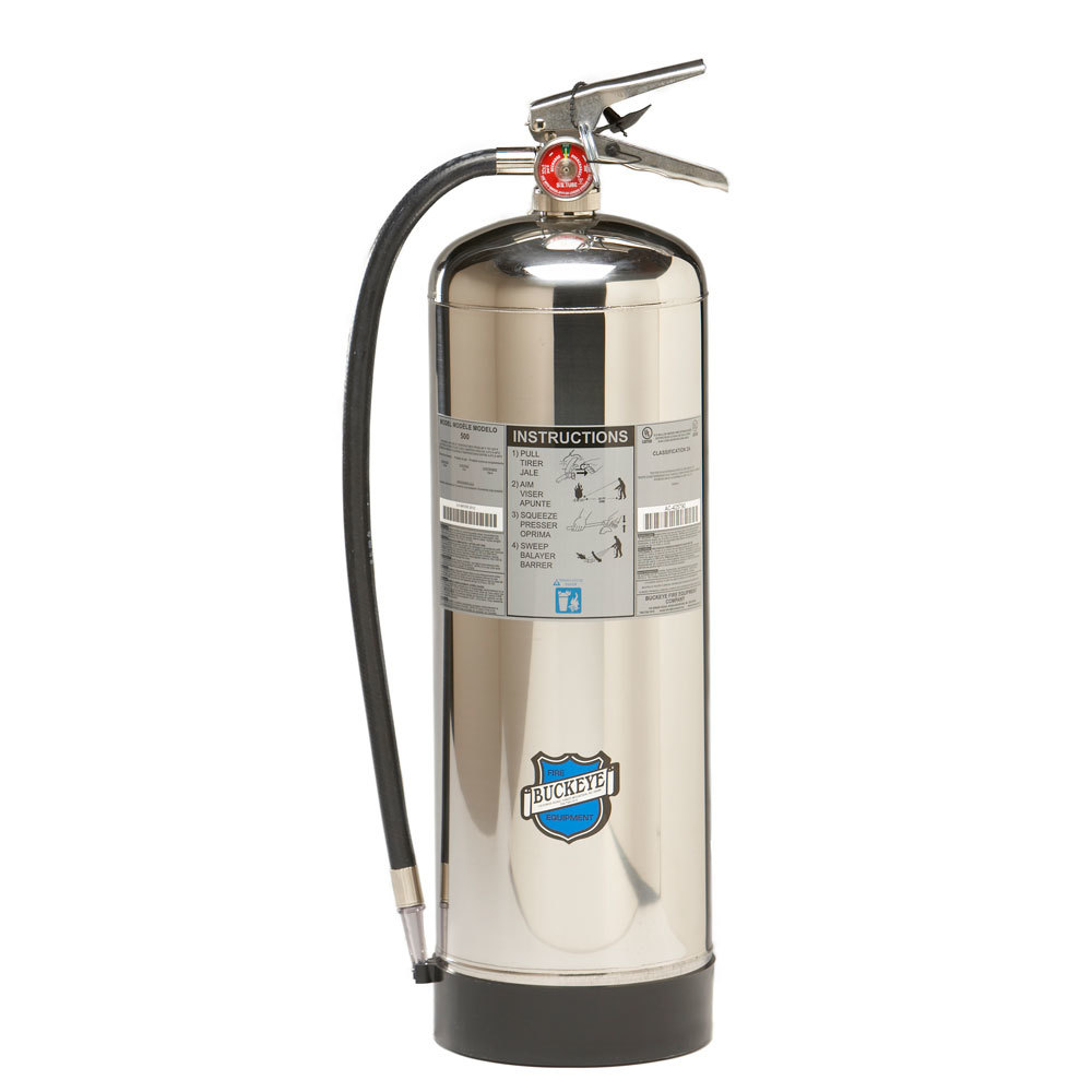awesome Commercial Kitchen Fire Extinguisher #4: Buckeye 2.5 Gallon Water Class A Fire Extinguisher - Rechargeable Untagged - UL Rating 2-