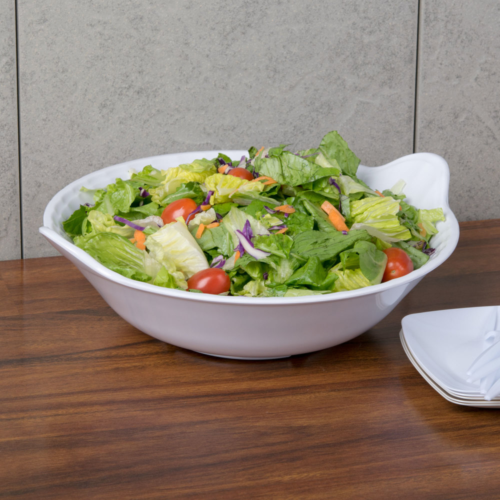 GET ML-93-W 2 Qt. White Siciliano Bowl - 6/Case