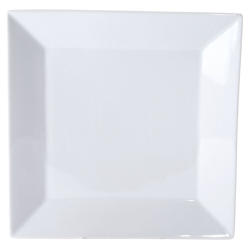 Kingsquare China Bright White Square Plate - 10 inch 12 / Case