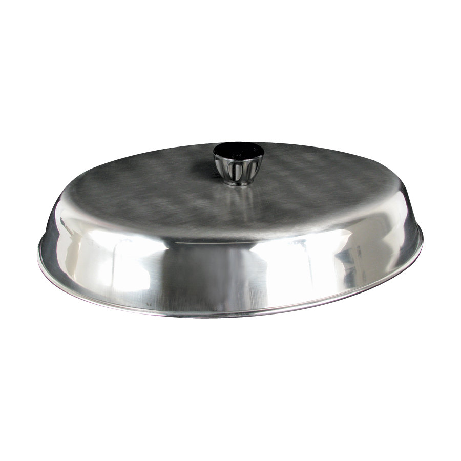 "American Metalcraft BAOV972S - 11 7/8"" x 8 3/4"" Oval Stainless Steel Basting Cover"