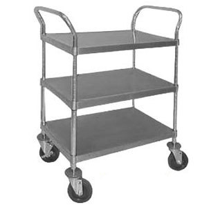 """Advance Tabco UC-3-2433-X Stainless Steel 3 Shelf Utility Cart - 38"""" x 24"""" x 38"""" at Sears.com"""