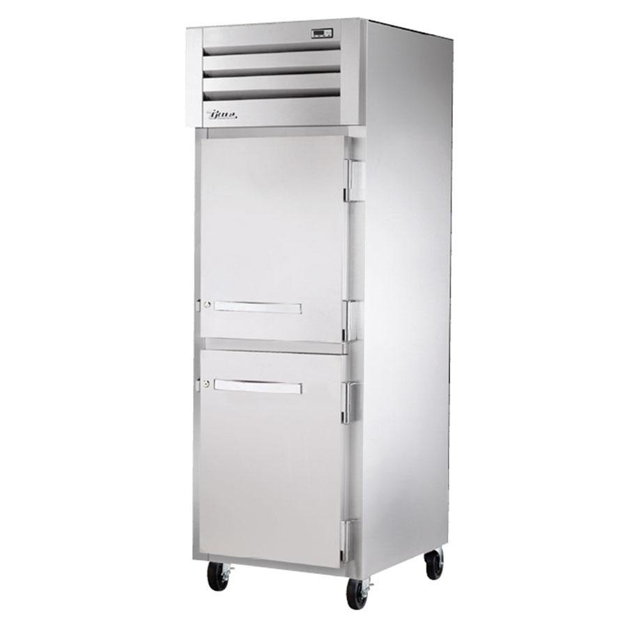 True STR1H-2HS Specification Series Solid Half Door Reach In Heated Holding Cabinet