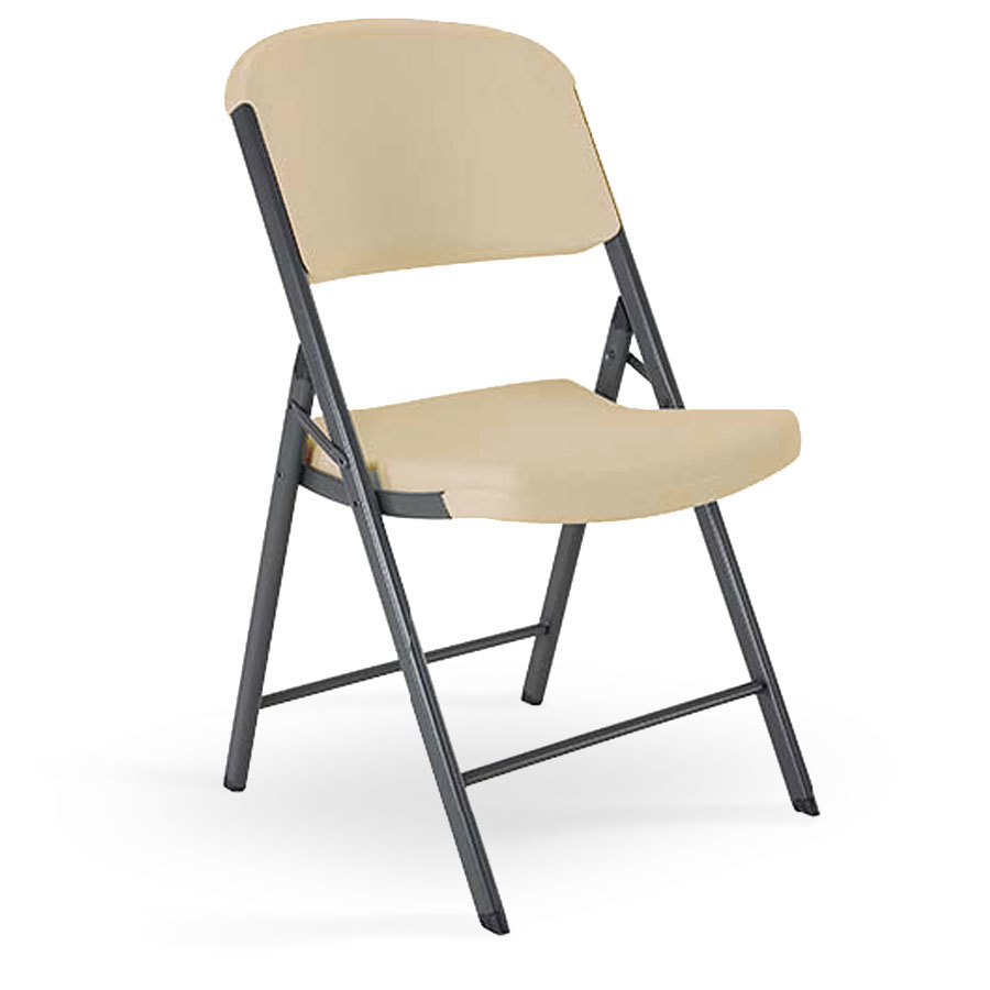 Lifetime Almond Contoured Folding Chair Lifetime 2803 at Sears