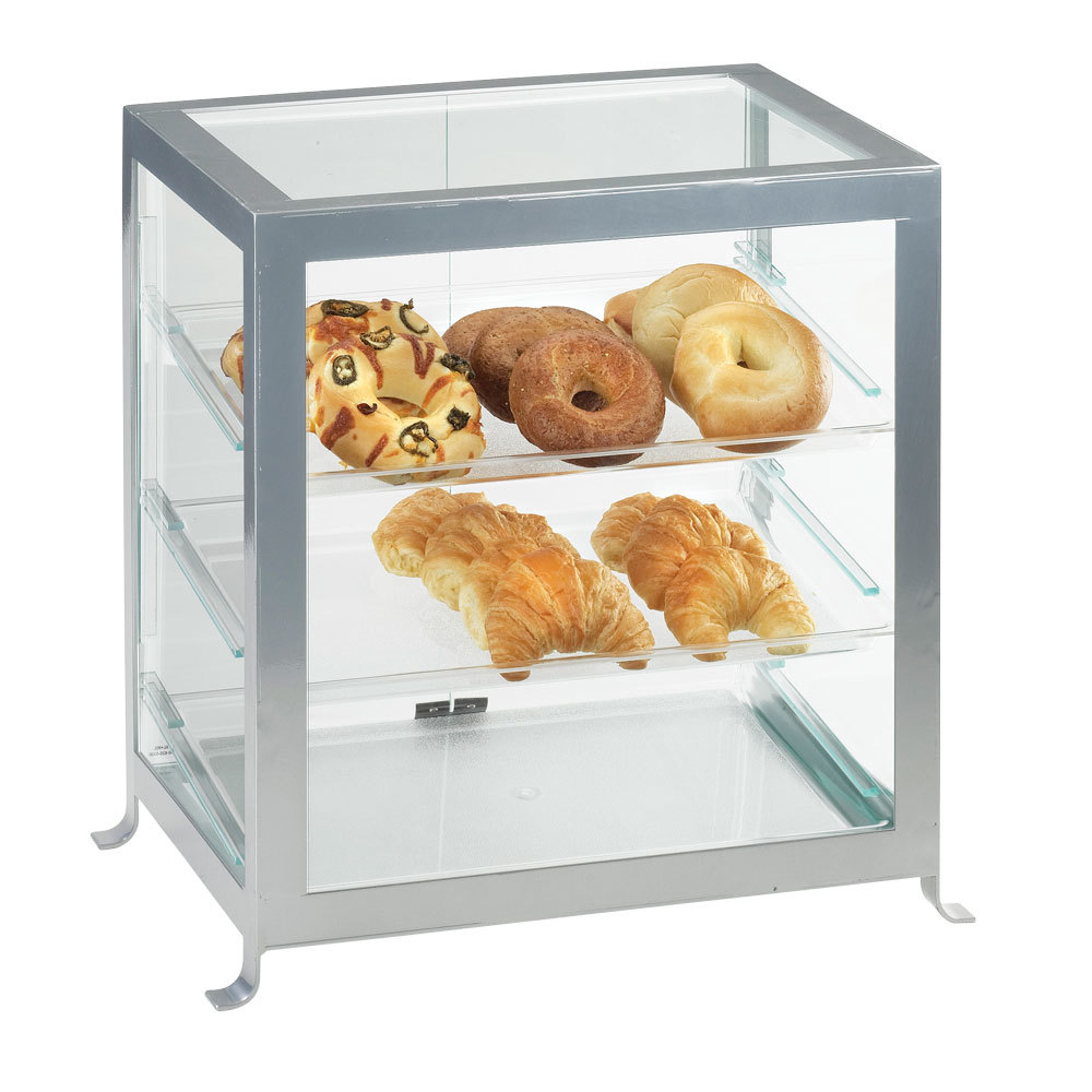 Cal Mil 1575-S-74 Silver Soho Self Serve Display Case - 21 1/4 inch x 15 3/4 inch x 20 3/4 inch
