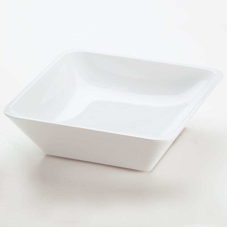 Cal Mil 1707-10-15 Mission 10 inch Square Melamine Bowl - White