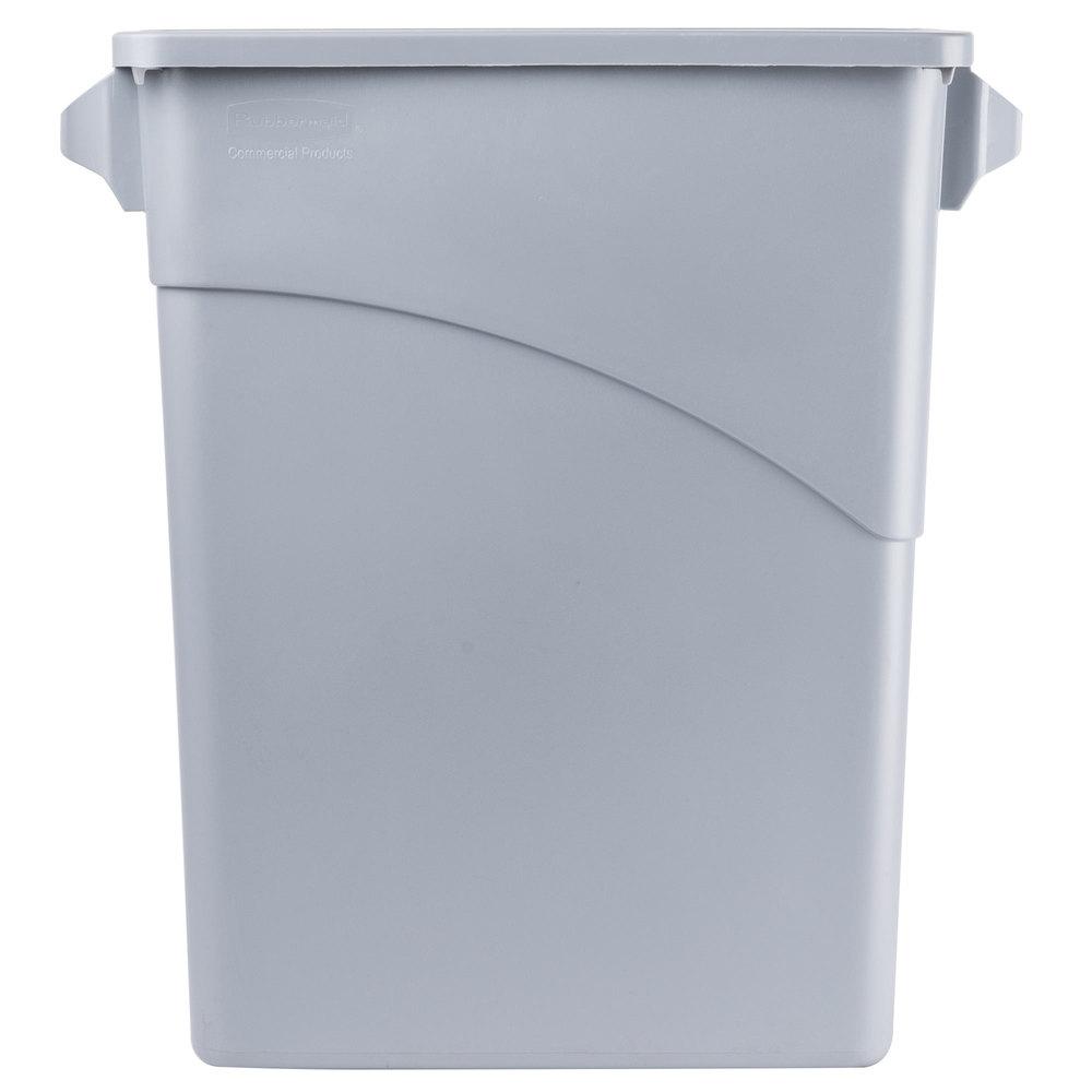 rubbermaid fg354100lgray gray 15 8 gallon slim jim wall