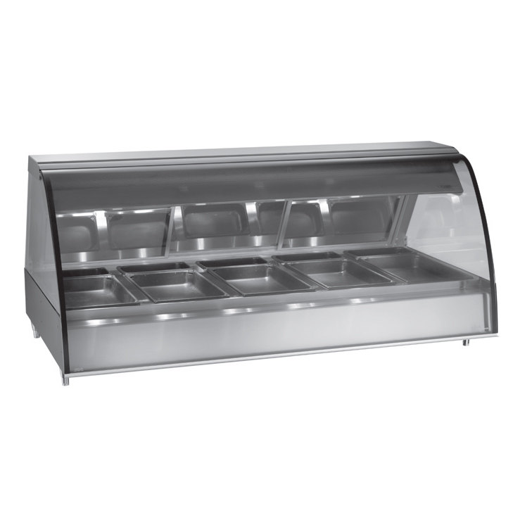 "Alto-Shaam TY2-72/PR SS Stainless Steel Countertop Heated Display Case with Curved Glass - Right Self Service 72"" at Sears.com"