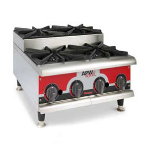 "APW Wyott HHPS-424 Heavy Duty 4 Burner Stepped Countertop 24"" Range / Hot Plate - 120,000 BTU at Sears.com"