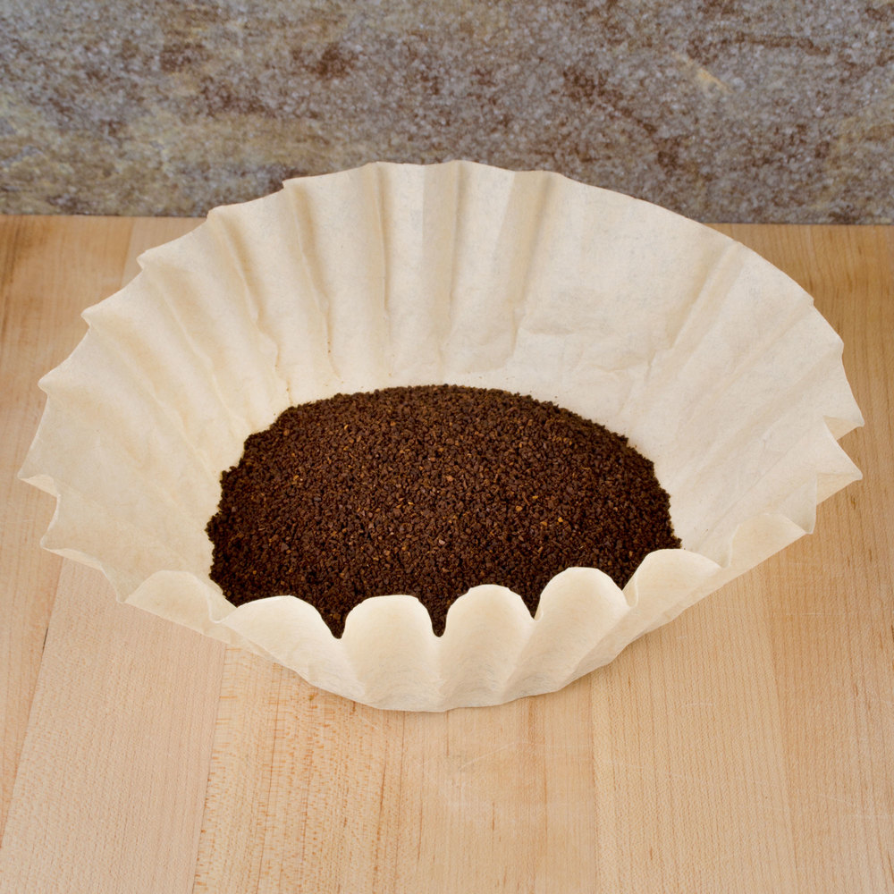 "9 3/4"" x 4 1/2"" Unbleached Natural Coffee Filter 12 Cup - 1000 / Case"