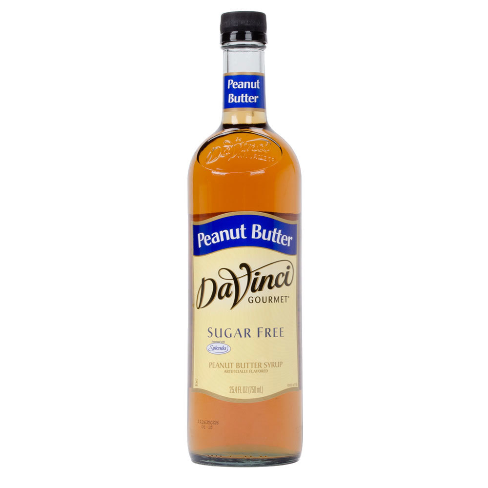 DaVinci Gourmet 750 mL Peanut Butter Sugar Free Coffee Flavoring Syrup