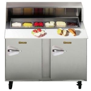 "Traulsen UPT4812-RR 48"" Standard Top Sandwich / Salad Prep Refrigerator with Right Hinged Doors"
