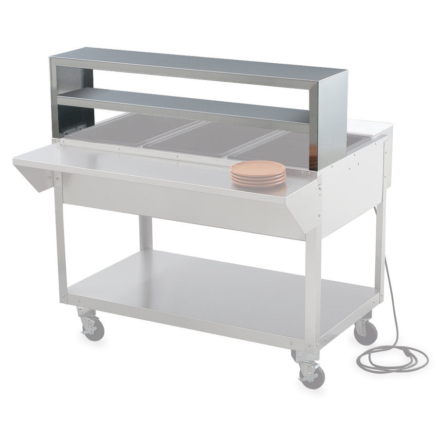 Vollrath 38035 Double Deck Overshelf for Vollrath 5 Well / Pan Hot or Cold Food Tables
