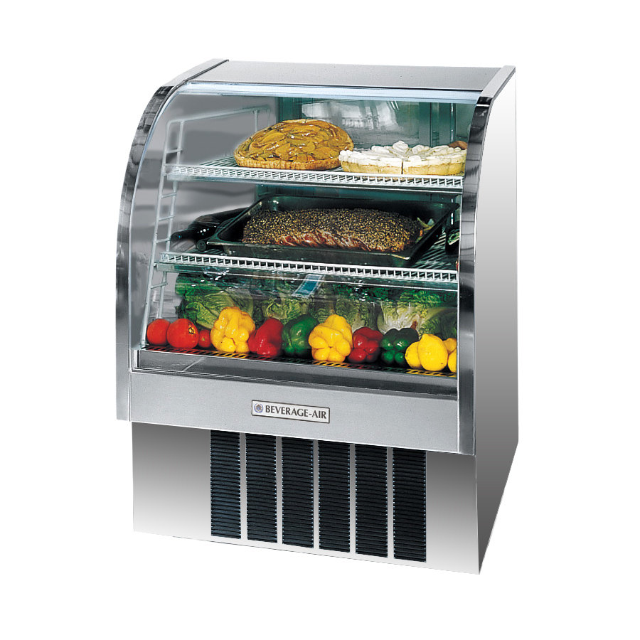 Beverage Air (Bev Air) CDR3/1 Curved Glass Refrigerated Bakery Display Case 37 inch - 13.4 Cu. Ft.
