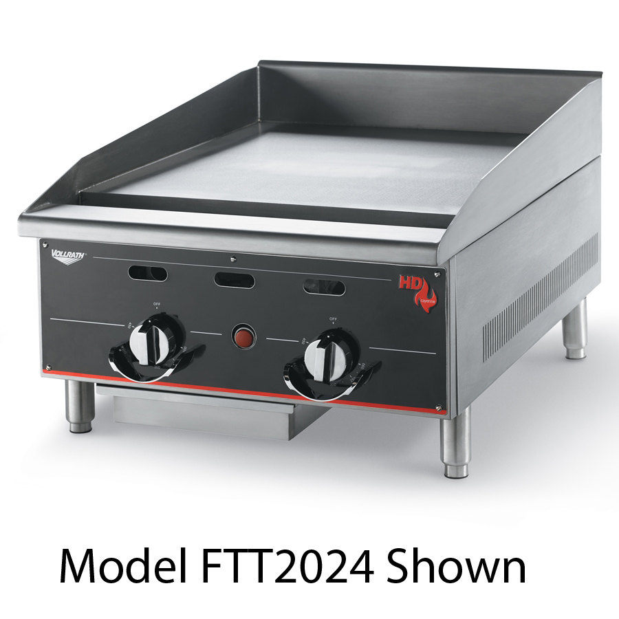 Vollrath 936GGT Cayenne 36 inch Heavy Duty Countertop Griddle with Thermostatic Controls - 90,000 BTU