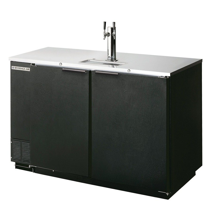 "Beverage Air (Bev Air) DD78R-1-B Black Beer Dispenser 78"" - 4 Keg Remote Cooled Kegerator at Sears.com"