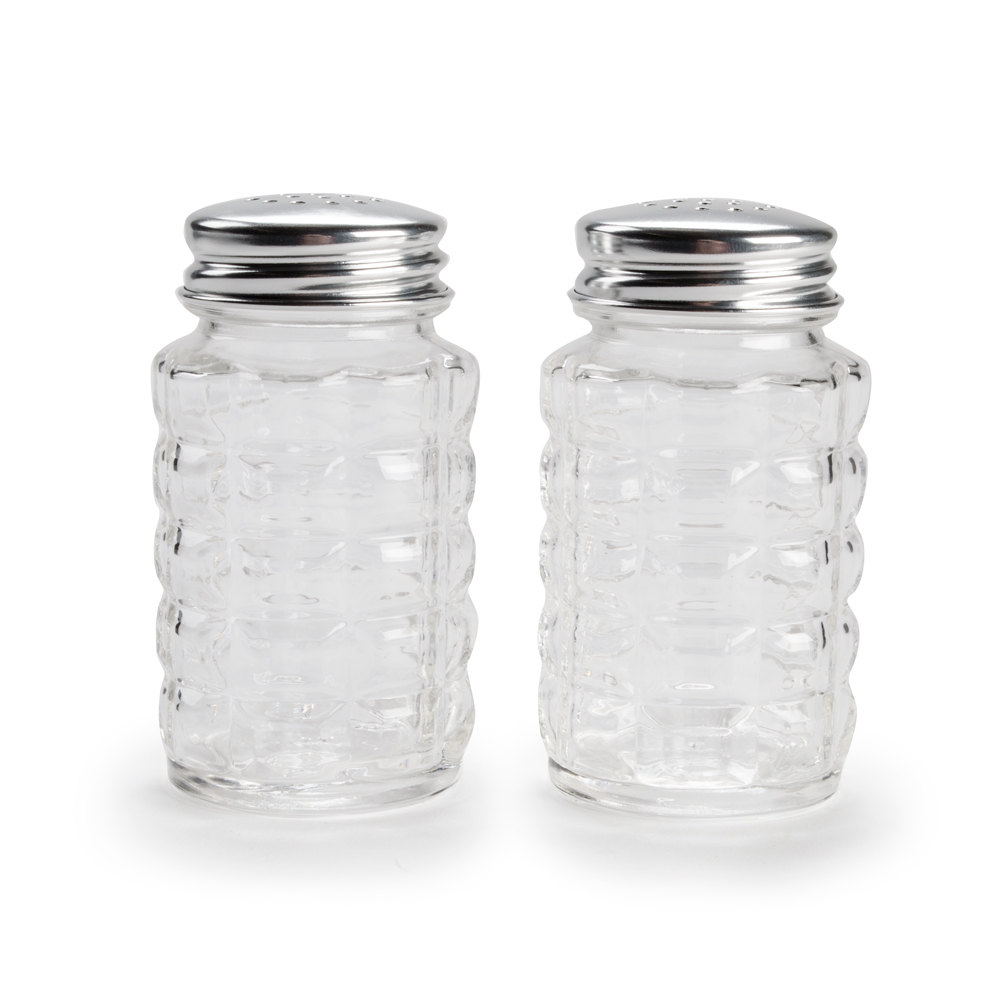 libbey 5045 2 oz salt and pepper shaker 4 shakers pack