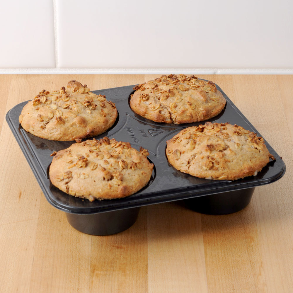 Genpak 55304 Dual Ovenable 4 Cup Plastic Muffin Pan - 250/Case