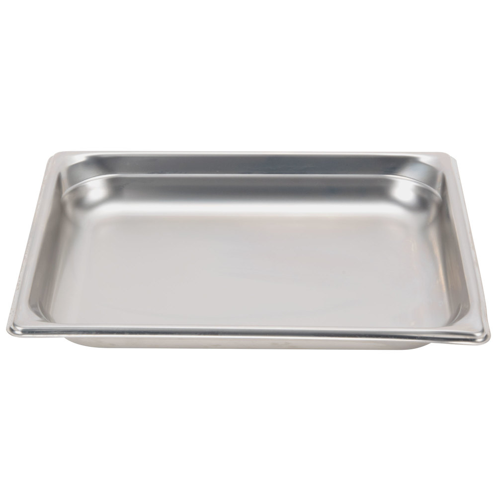 "Vollrath 90212 Super Pan 3® 1/2 Size Anti-Jam Stainless Steel Steam Table Pan - 1 1/2"" Deep"