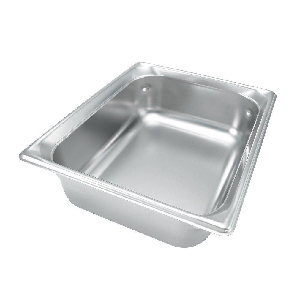 Vollrath 90212 Super Pan 3 Stainless Steel 1/2 Size Anti-Jam Steam Table Pan - 1 1/2 inch Deep
