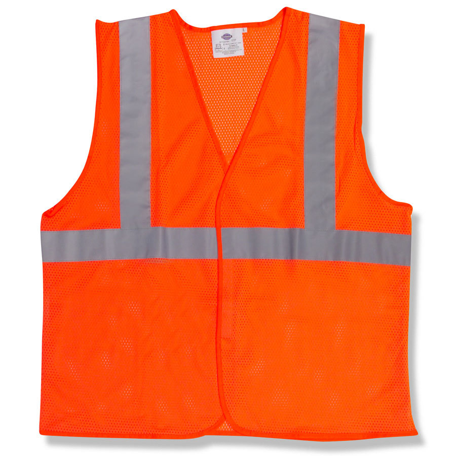 Orange Class 2 High Visibility Surveyor's Safety Vest with Velcro® Closure - XXL