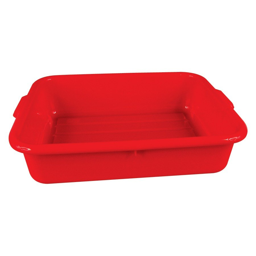 "Tablecraft 1529R 20"" x 15"" x 5"" Red Polyethylene Plastic Bus Tub, Bus Box"