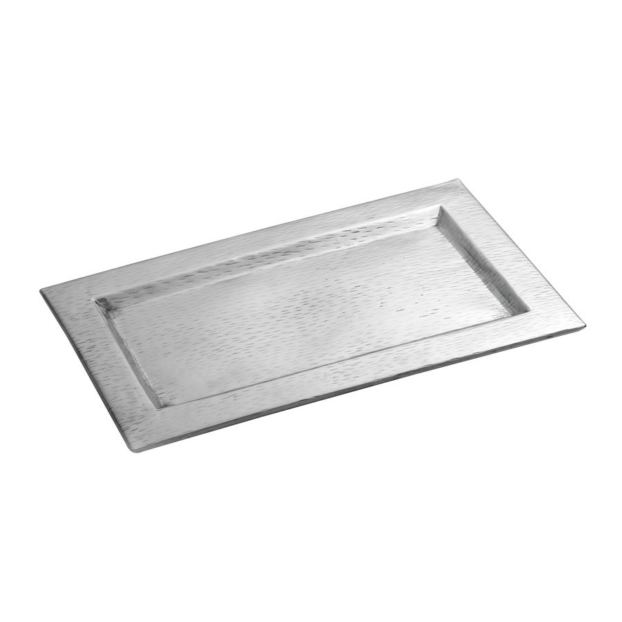 "Tablecraft R169 Remington 15 1/2"" x 9 1/4"" Rectangular Stainless Steel Tray"