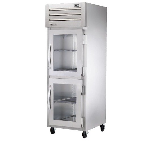True STG1R-2HG Specification Series One Section Reach In Refrigerator with Glass Half Doors - 31 Cu. Ft.