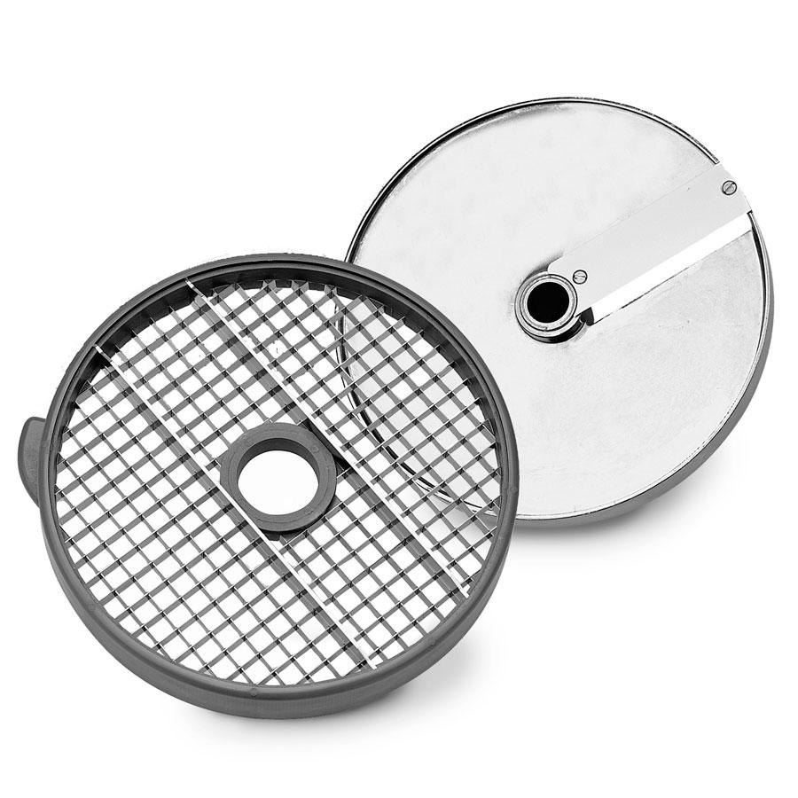 Robot Coupe 28112 Dicing Disc for Large Food Processors - 10 mm x 10 mm (3/8 inch x 3/8 inch) Cuts