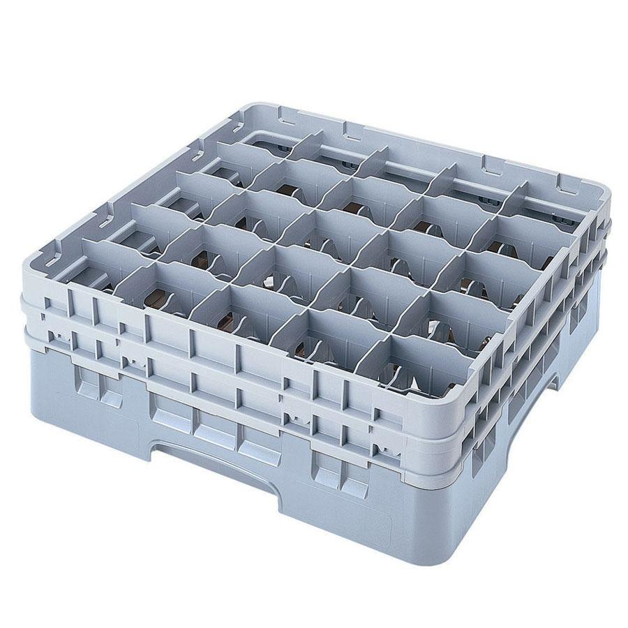 "Cambro 25S318151 Camrack 3 5/8"" High Soft Gray 25 Compartment Glass Rack"