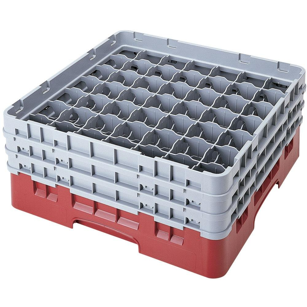 "Cambro 49S800416 Cranberry Camrack 49 Compartment 8 1/2"" Glass Rack"