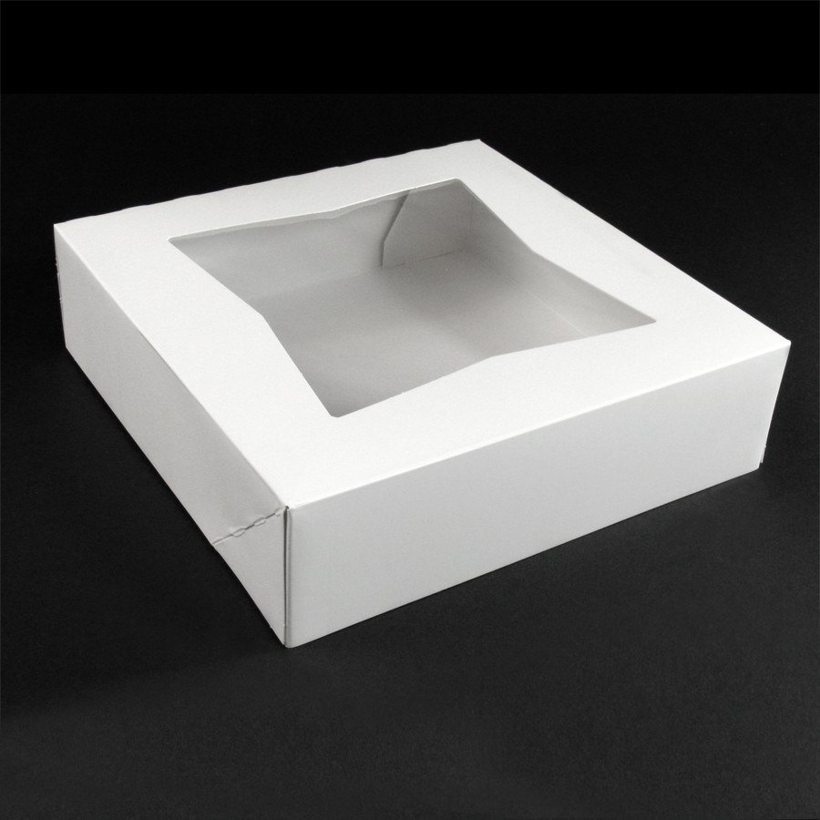Window Cake / Bakery Box 8 inch x 8 inch x 2 1/2 inch 200/Case
