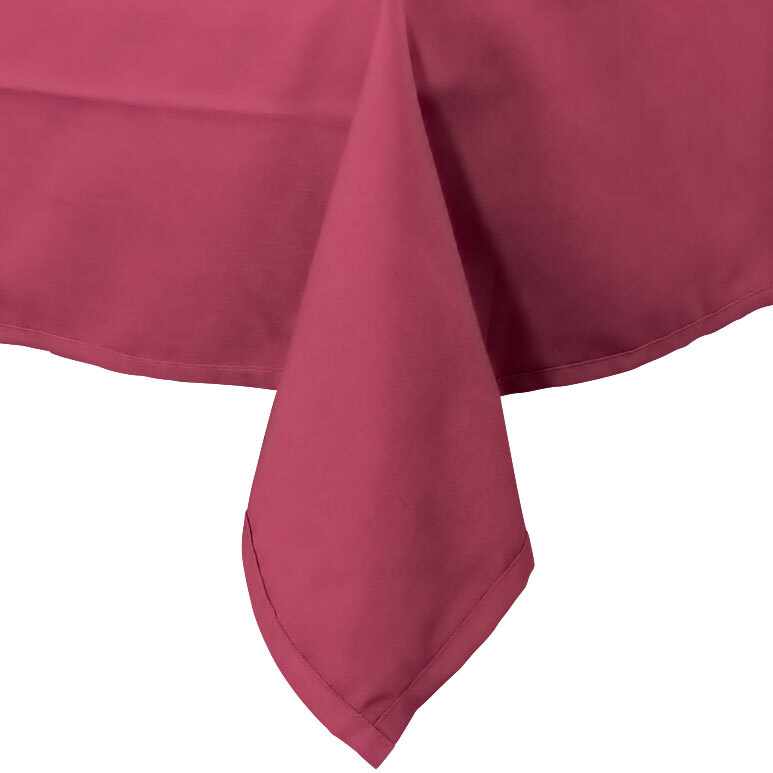 72 inch x 72 inch Mauve 100% Polyester Hemmed Cloth Table Cover